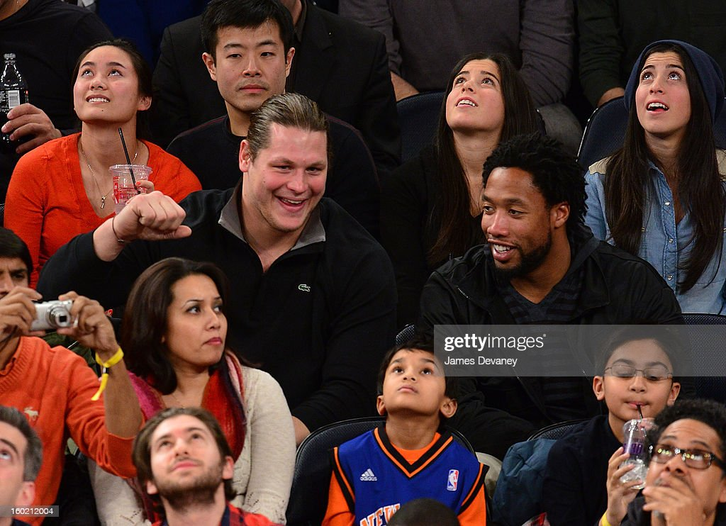 Markus Kuhn (L) attends the Atlanta Hawks vs New York Knicks game at Madison Square Garden on January 27, 2013 in New York City.