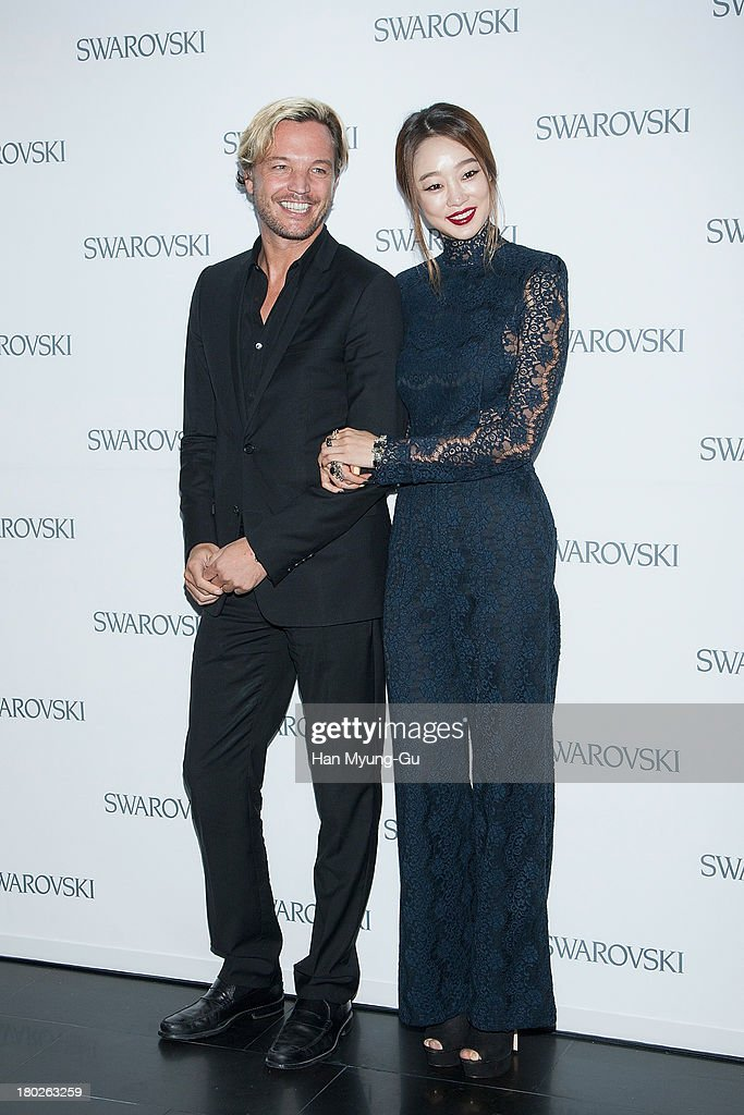 Markus Langes-Swarovski and actress <a gi-track='captionPersonalityLinkClicked' href=/galleries/search?phrase=Choi+Yeo-Jin&family=editorial&specificpeople=5291501 ng-click='$event.stopPropagation()'>Choi Yeo-Jin</a> attend 'SWAROVSKI' World Jewelry Facets at The Horim Art Center on September 10, 2013 in Seoul, South Korea.