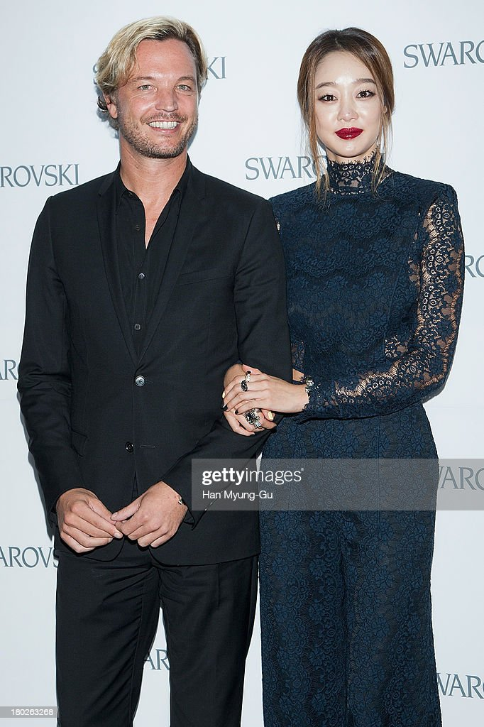 Markus Langes-Swarovski and actress Choi Yeo-Jin attend 'SWAROVSKI' World Jewelry Facets at The Horim Art Center on September 10, 2013 in Seoul, South Korea.
