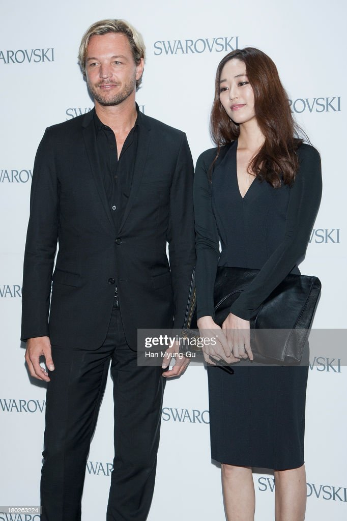 Markus Langes-Swarovski and actress <a gi-track='captionPersonalityLinkClicked' href=/galleries/search?phrase=Kim+Hyo-Jin&family=editorial&specificpeople=7350092 ng-click='$event.stopPropagation()'>Kim Hyo-Jin</a> attend 'SWAROVSKI' World Jewelry Facets at The Horim Art Center on September 10, 2013 in Seoul, South Korea.