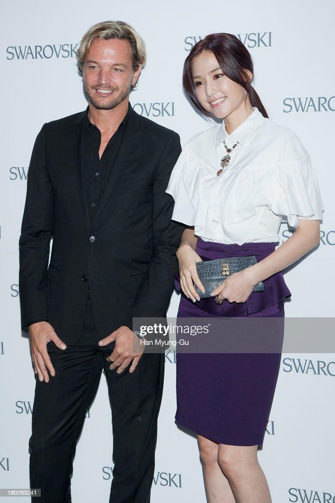 Markus Langes-Swarovski and actress Kong Hyun-Joo attend 'SWAROVSKI' World Jewelry Facets at The Horim Art Center on September 10, 2013 in Seoul, South Korea.