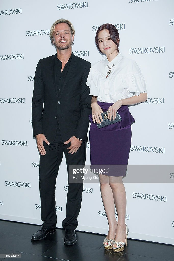 Markus Langes-Swarovski and actress <a gi-track='captionPersonalityLinkClicked' href=/galleries/search?phrase=Kong+Hyun-Joo&family=editorial&specificpeople=4351070 ng-click='$event.stopPropagation()'>Kong Hyun-Joo</a> attend 'SWAROVSKI' World Jewelry Facets at The Horim Art Center on September 10, 2013 in Seoul, South Korea.