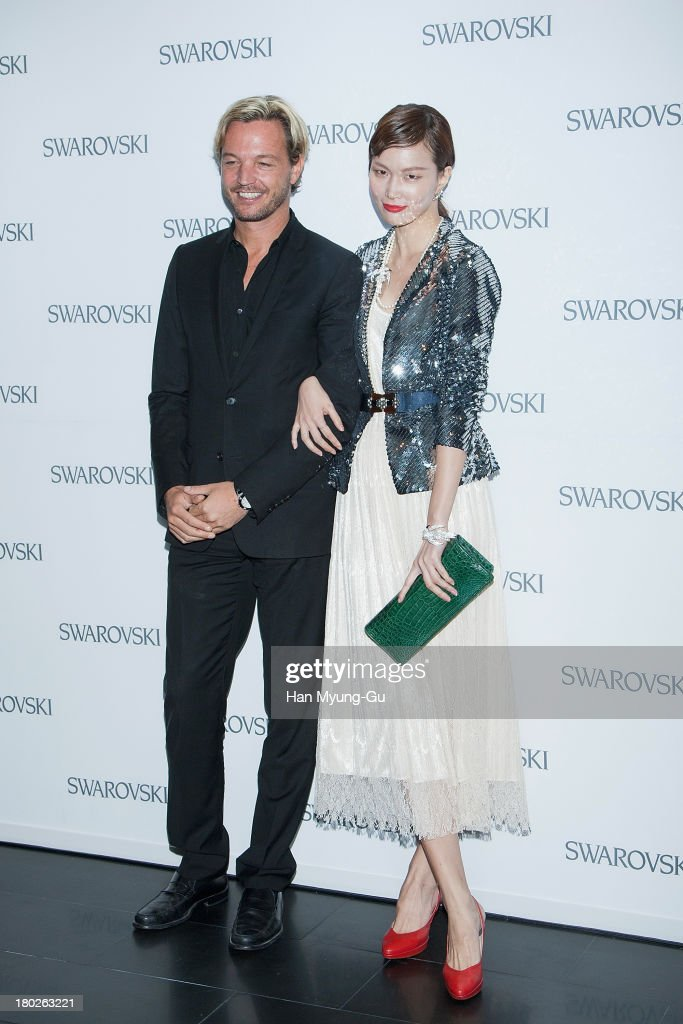 Markus Langes-Swarovski and model Song Kyung-Ah attend 'SWAROVSKI' World Jewelry Facets at The Horim Art Center on September 10, 2013 in Seoul, South Korea.