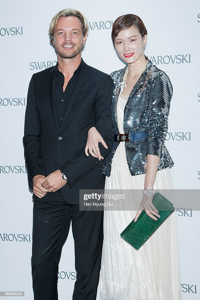 Markus Langes-Swarovski and model Song Kyung-Ah attend 'SWAROVSKI' World Jewelry Facets at The Horim Art Center on September 10, 2013 in Seoul, South Korea.
