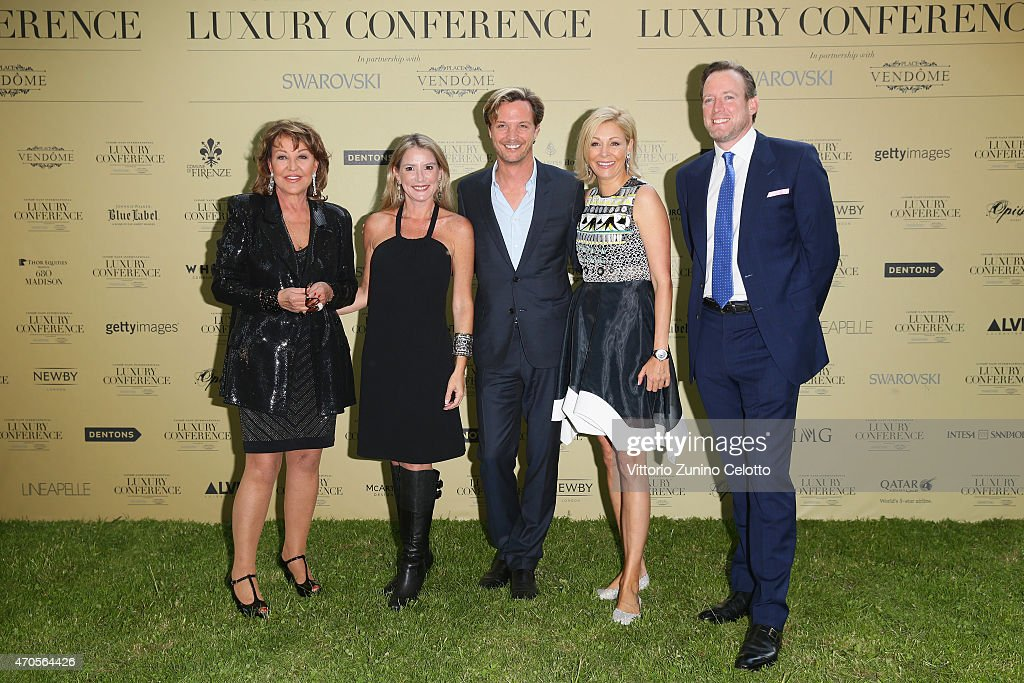 Markus Langes-Swarovski; Nadja Swarovski attend the Conde' Nast International Luxury Conference Welcome Reception at Four Seasons Hotel Firenze on April 21, 2015 in Florence, Italy.