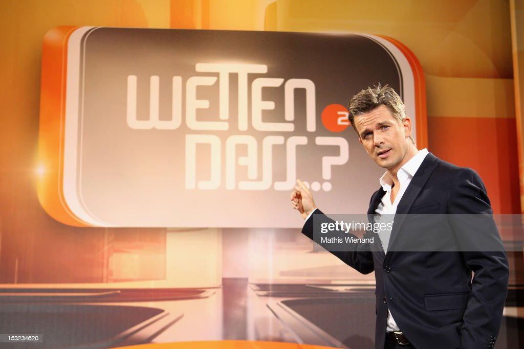 Markus Lanz attends the 'Wetten dass' Press Conference on September 24 2012 in Cologne Germany