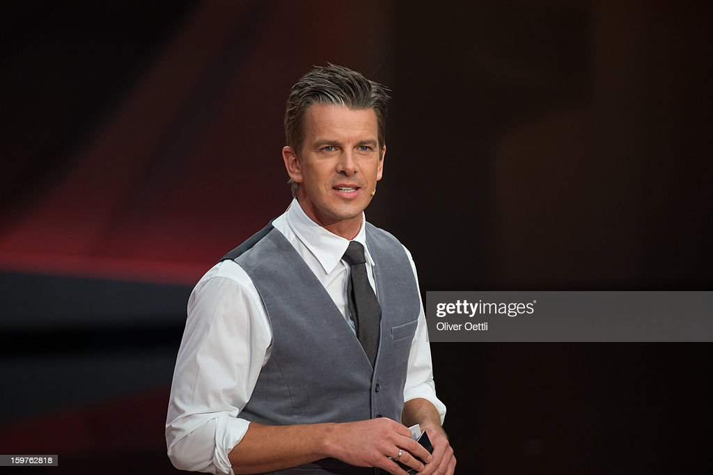 Markus Lanz attends the 'Wetten dass..?' show on January 19, 2013 in Offenburg, Germany.
