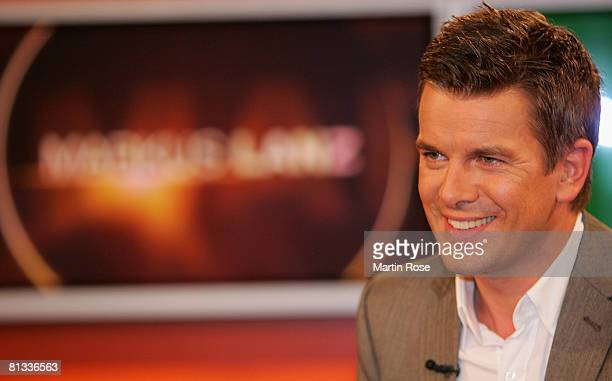 Markus Lanz German tv host presents his new tv show the Markus Lanz talkshow on June 2 2008 in Hamburg Germany