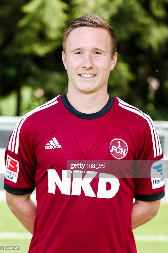 Markus Mendler poses during the FC Nuernberg team presentation at Sportpark Valznerweiher on July 9 2013 in Nuremberg Germany