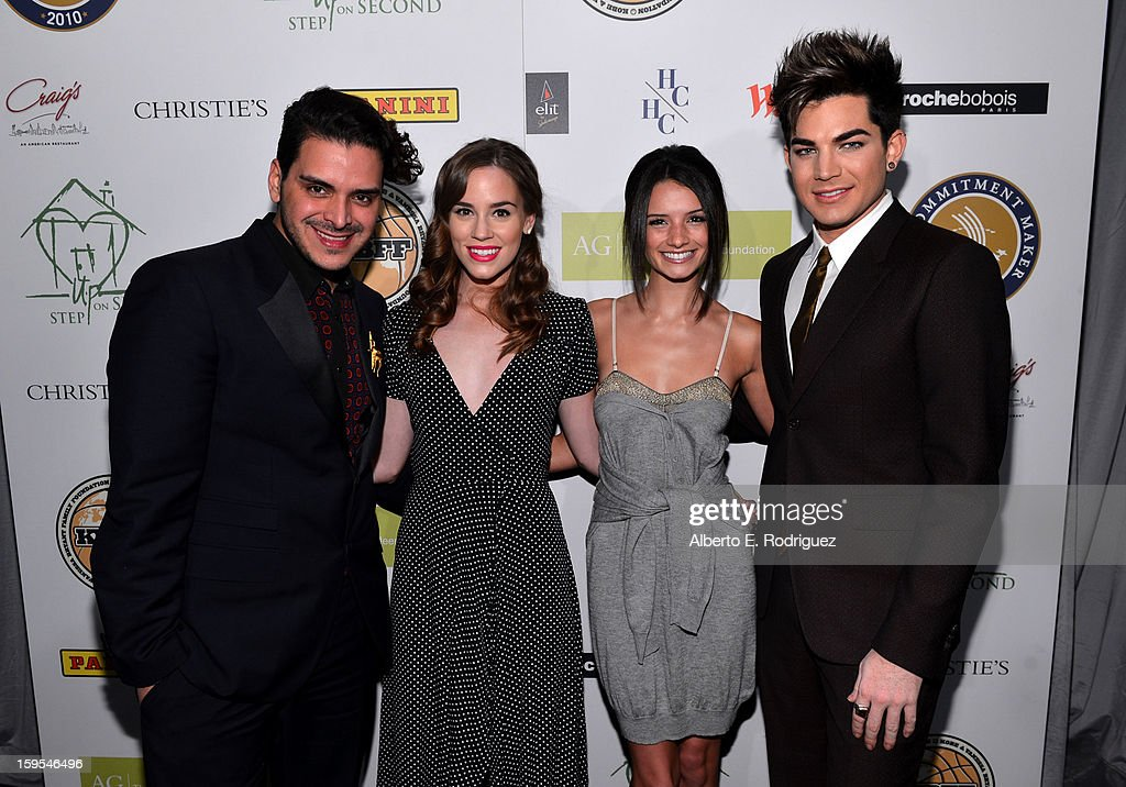 Markus Molinari, actress Christa B. Allen, Alice Gretchen and singer Adam Lambert joined President Bill Clinton and Kobe Bryant at the grand opening of STEP UP ON VINE on January 14, 2013 in Los Angeles, California.