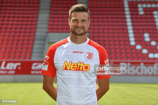 Markus Palionis of Jahn Regensburg poses during the team presentation at Continental Arena on July 18 2017 in Regensburg Germany