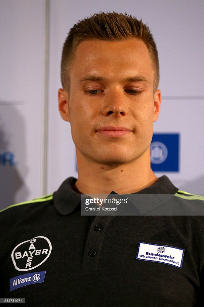 Markus Rehm, handicapped longjumper and Paralympics winner of London 2012 announces a press conference at German Sport & Olympic Museum on May 30, 2016 in Cologne, Germany.