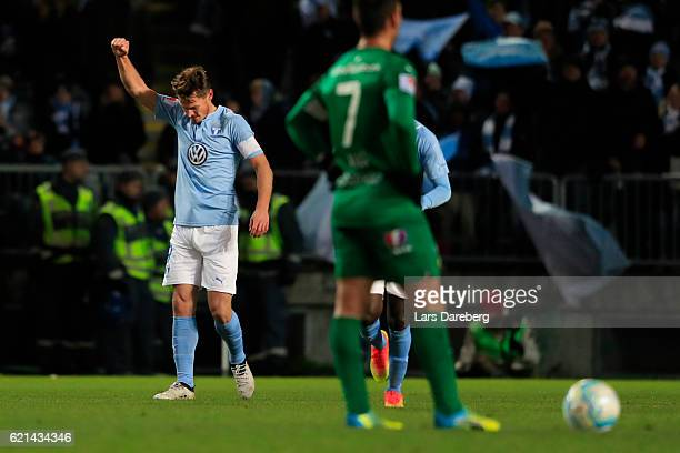 Markus Rosenberg of Malmo FF during the Allsvenskan match between Malmo FF and Hammarby IF at Swedbank Stadion on November 6 2016 in Malmo Sweden
