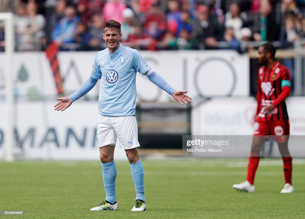 Markus Rosenberg of Malmo FF during the Allsvenskan match between Ostersunds FK and Malmo FF at Jamtkraft Arena on May 28, 2016 in Ostersund, Sweden.