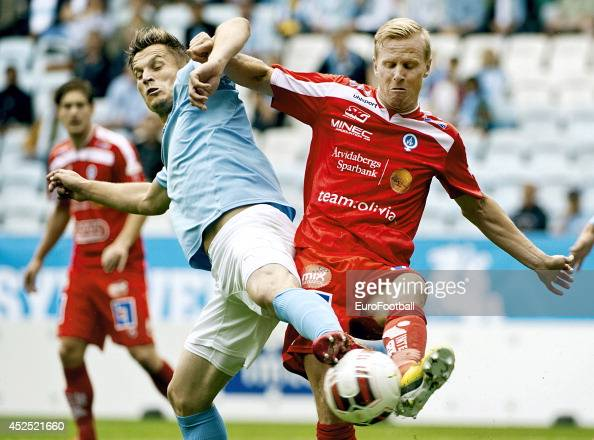 Markus Rosenberg of Malmo FF in action during the Swedish Allsvenskan League match between Malmo FF and Atvidaberg FF at the Swedbank Stadion on July...