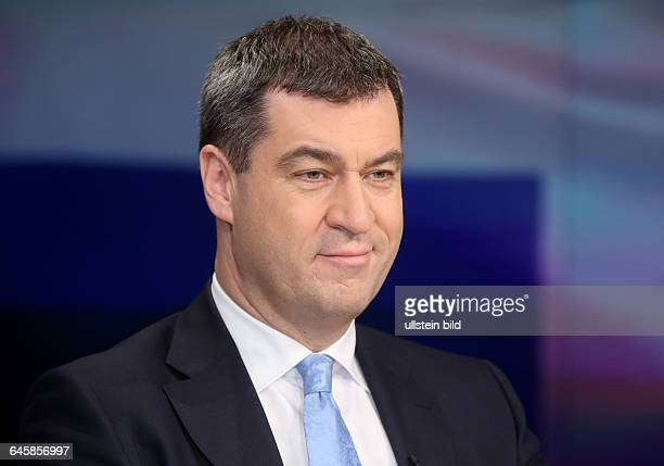 Markus Söder in der ZDFTalkshow 'Maybrit_Illner' am in BerlinThema der Sendung Athen gegen alle Scheitert der Euro