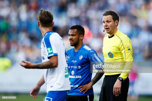 Markus Strombergsson referee during the Allsvenskan match between IFK Norrkoping and Halmstad BK at Ostgotaporten on May 27 2017 in Norrkoping Sweden
