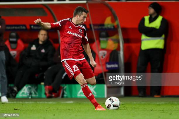 Markus Suttner of Ingolstadt controls the ball during the Bundesliga match between FC Ingolstadt 04 and 1 FC Koeln at Audi Sportpark on March 11 2017...