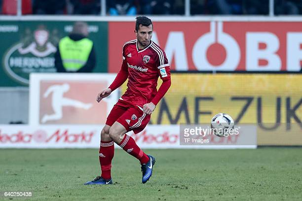 Markus Suttner of Ingolstadt in action during the Bundesliga match between FC Ingolstadt 04 and Hamburger SV at Audi Sportpark on January 28 2017 in...