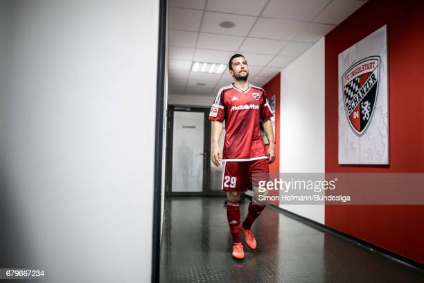 Markus Suttner of Ingolstadt is seen in the players tunnel during the Bundesliga match between FC Ingolstadt 04 and Bayer 04 Leverkusen at Audi...