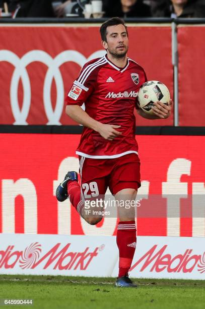 Markus Suttner of Ingolstadt looks on during the Bundesliga match between FC Ingolstadt 04 and Borussia Moenchengladbach at Audi Sportpark on...