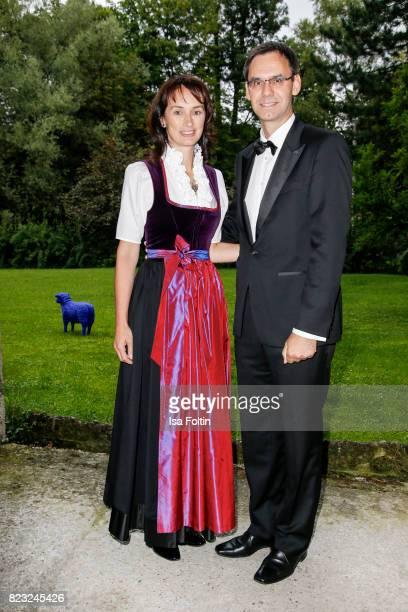 Markus Wallner and his wife Sonja Wallner during the International Salzburg Association Gala on July 26 2017 in Salzburg Austria