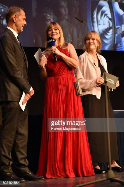 Markus Zimmer Nastassja Kinski and Valeska Grisebach during the premiere of 'Ihre Beste Stunde' as closing movie of Munich Film Festival 2017 at...