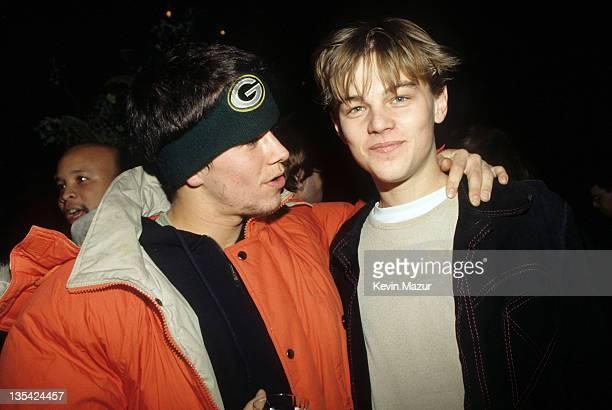 Marky Mark and Leonardo DiCaprio during Leonardo DiCaprio File Photo in Los Angeles California United States