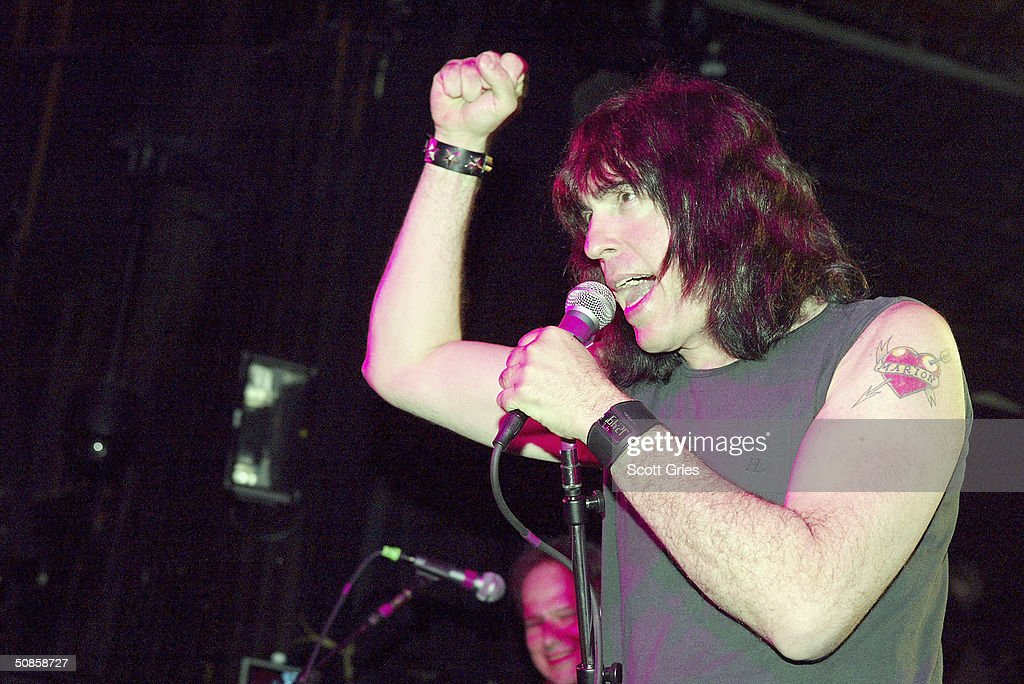 Marky Ramone performs on stage during 'Life's A Gas' at The Annual Joey Ramone Birthday Bash on May 19, 2004 at Irving Plaza, in New York City.