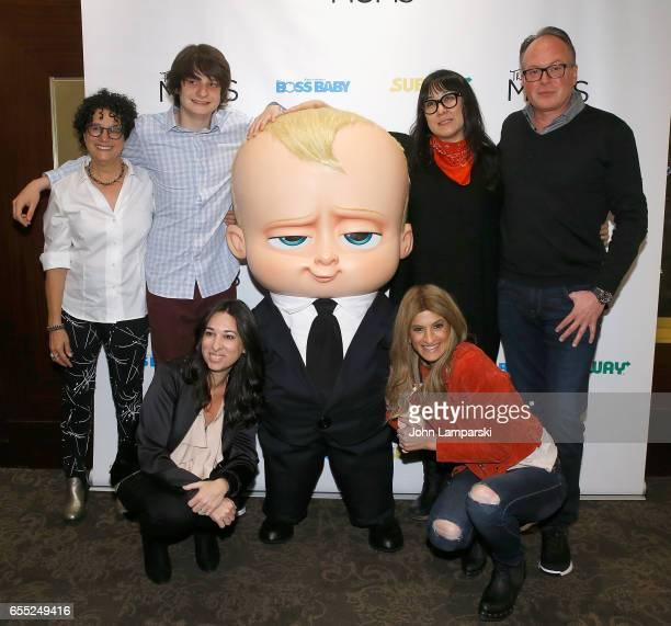 Marla Frazee Miles Bakshi Ramsey Ann Naito Tom McGrath Melissa Musen Gerstein and Denise Albert attend Mamarazzi screening Of 'The Boss Baby'at Dolby...