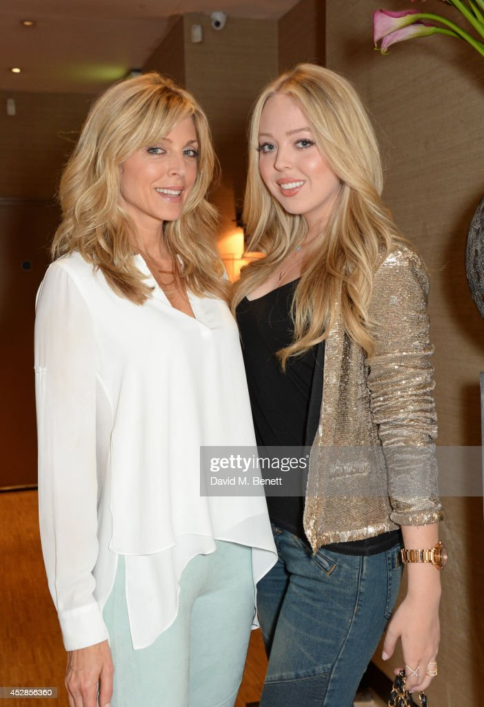 Marla Maples and Tiffany Trump have dinner at Sumosan on July 28 2014 in London England