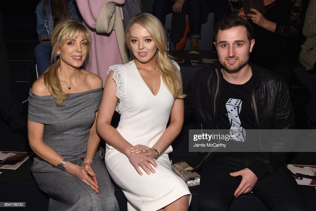 Marla Maples Tiffany Trump and Ross Mechanic attend the Taoray Wang collection during New York Fashion Week The Shows at Gallery 1 Skylight Clarkson...