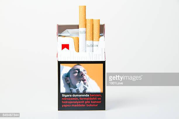 Marlboro Cigarette Pack isolated on white