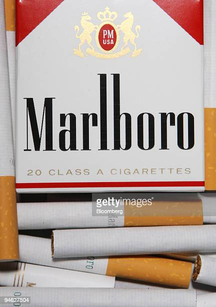 Marlboro cigarettes are arranged for a photograph in New York Aug 29 2007 Altria Group Inc the biggest US tobacco company is becoming more dependent...