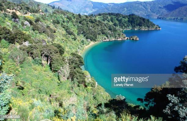 Marlborough Sounds on New Zealand's South Island.