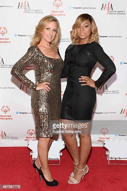 Marlee Martin and Ashanti attend the 36th Annual AAFA American Image Awards on April 29 2014 in New York City
