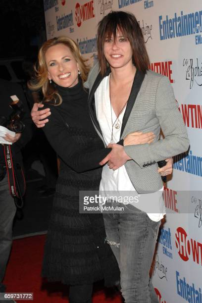 Marlee Matlin and Katherine Moennig attend SHOWTIME Bids Adieu To The Ladies Of The L Word at Cafe La Boheme on March 3 2009 in West Hollywood...
