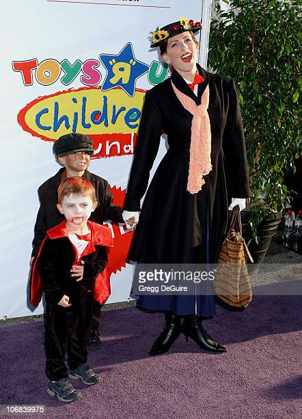 Marlee Matlin and Kids during 12th Annual Dream Halloween Fundraising Event Benefiting The Children Affected by AIDS Foundation Arrivals at Barker...