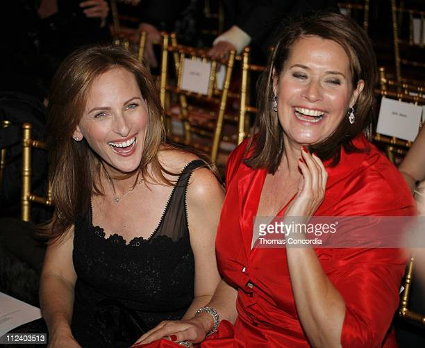 Marlee Matlin and Lorraine Bracco during MercedesBenz Fashion Week Fall 2007 Douglas Hannant Front Row and Backstage at Gotham Hall in New York City...