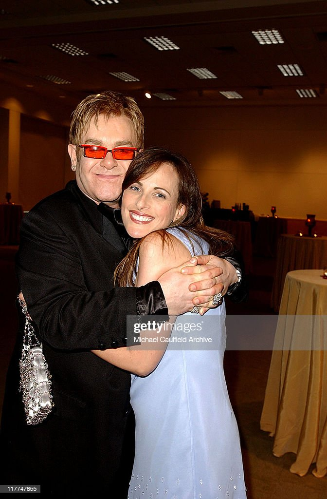 Marlee Matlin and Sir Elton John during 'So The World May Hear' Awards Gala All Access at Rivercentre in St Paul Minnesota United States