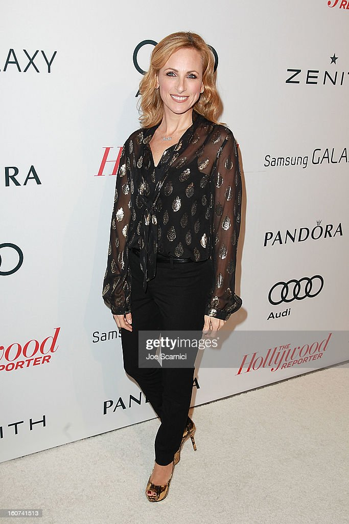 Marlee Matlin arrives at The Hollywood Reporter nominees' night 2013 celebrating 85th annual Academy Award nominees at Spago on February 4, 2013 in Beverly Hills, California.