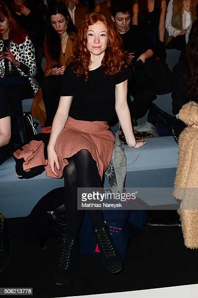 Marleen Lohse attends the Anne Gorke show during the MercedesBenz Fashion Week Berlin Autumn/Winter 2016 at Brandenburg Gate on January 22 2016 in...