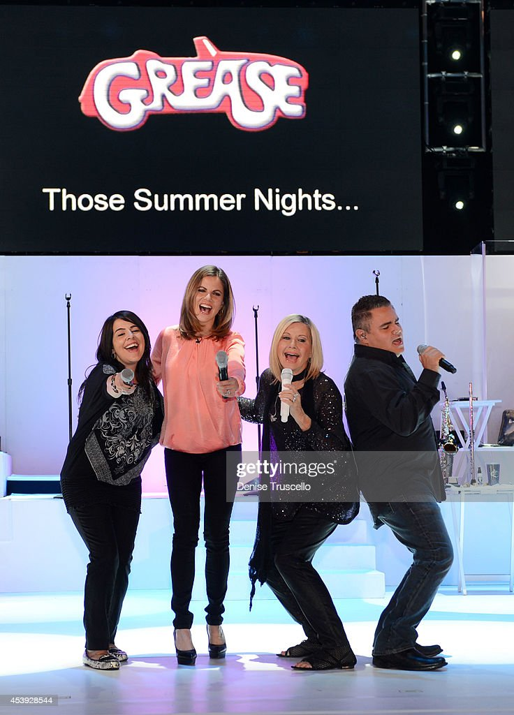 Marlen Landin Natalie Morales Olivia NewtonJohn and Steve Real perform during Olivia NewtonJohn's residency 'Summer Nights' at the Flamingo Las Vegas...
