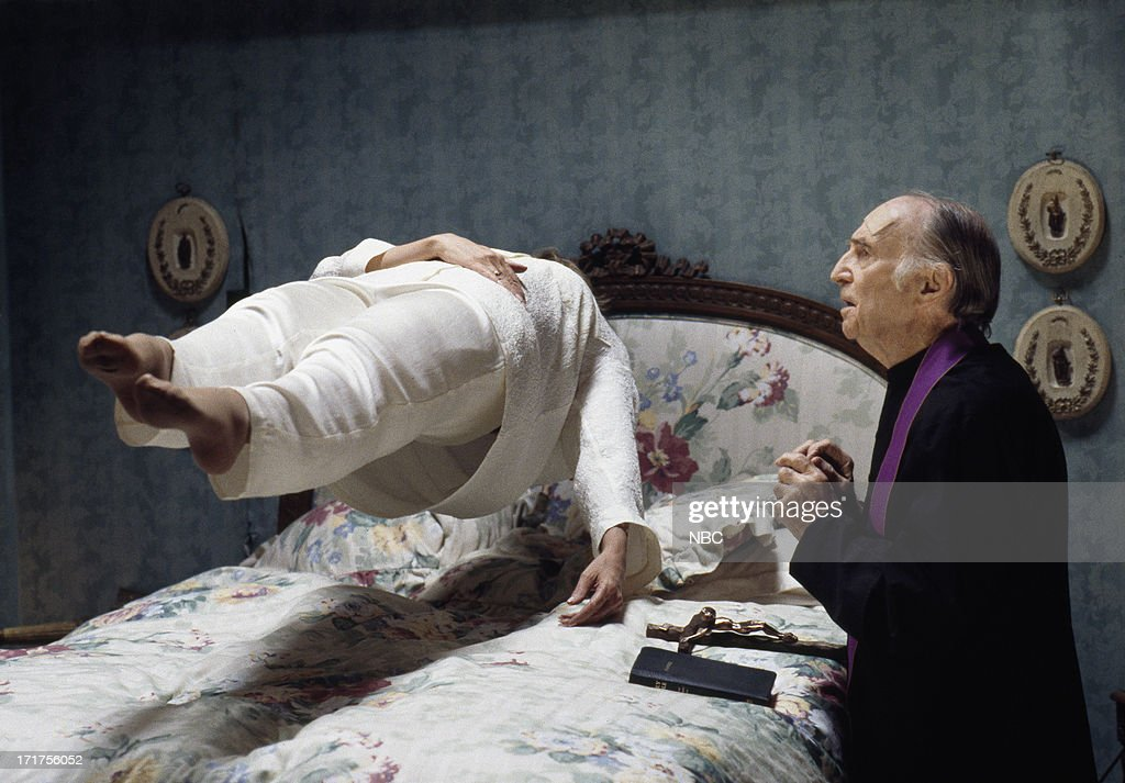 LIVES 'Marlena's Exorcism' Pictured Deidre Hall as Marlena Evans Eric Christmas as Father Francis