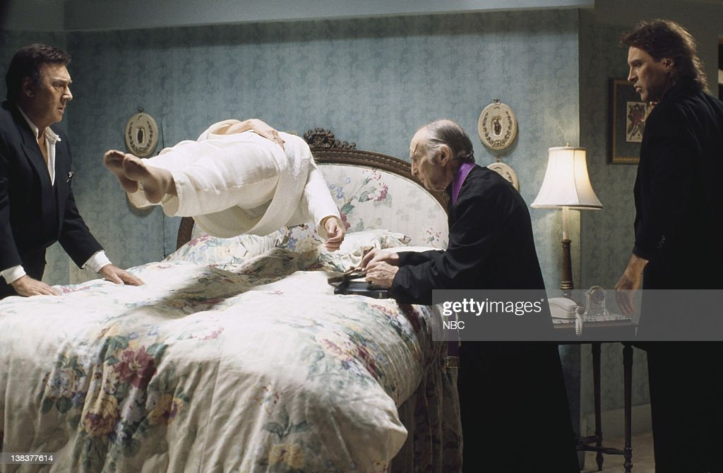 LIVES 'Marlena's Exorcism' Pictured Joseph Mascolo as Stefano DiMera Deidre Hall as Marlena Evans Eric Christmas as Father Francis Drake Hogestyn as...