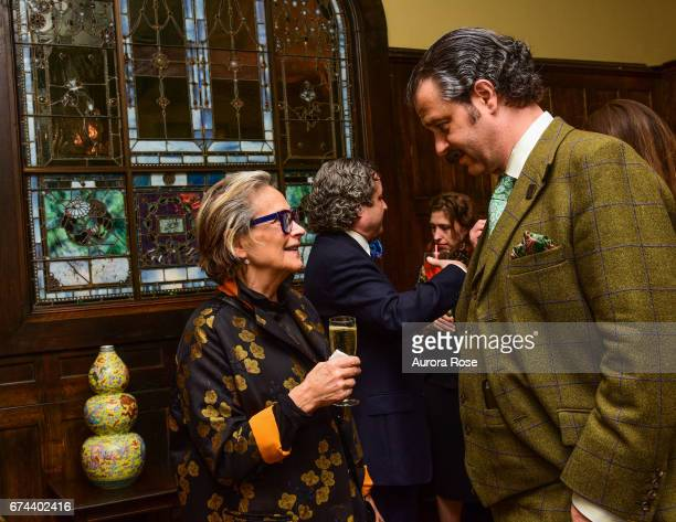 Marlene Baragano and Nicholas D Lowry attend Objekt USACanada celebrates National Arts Club at National Arts Club on April 27 2017 in New York City