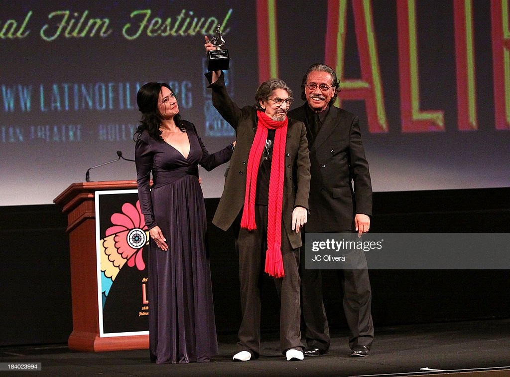 Marlene Dermer, Pablo Ferro and <a gi-track='captionPersonalityLinkClicked' href=/galleries/search?phrase=Edward+James+Olmos&family=editorial&specificpeople=213817 ng-click='$event.stopPropagation()'>Edward James Olmos</a> attend The 2013 Los Angeles Latino International Film Festival - Opening Night Gala Premiere of 'Pablo' at the El Capitan Theatre on October 10, 2013 in Hollywood, California.