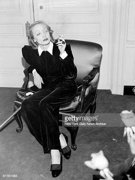 Marlene Dietrich at the St Regis Hotel in New York City