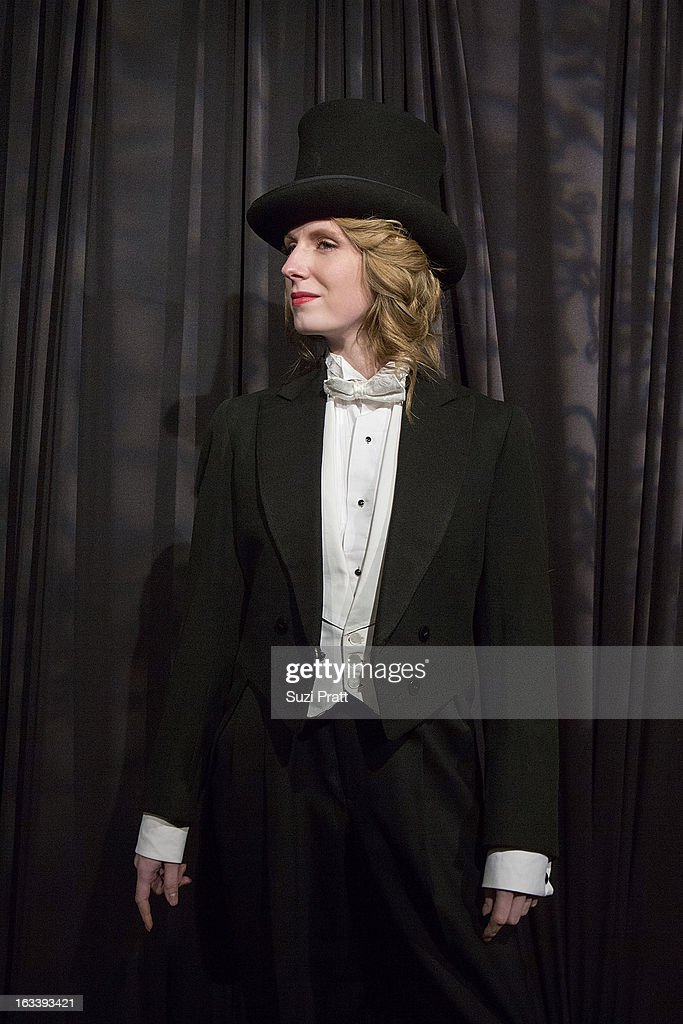 Marlene Dietrich channeling Kelsey Atwood at the Sodo Comes Alive event at Aston Manor on March 8, 2013 in Seattle, Washington.