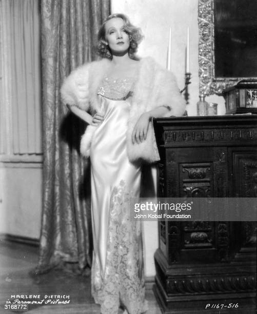 Marlene Dietrich in a scene from the romantic drama 'Angel' directed by Ernst Lubitsch for Paramount with costume designs by Travis Banton